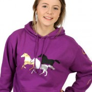Capaillíní Equestrian Collection - Galloping Horses Hoodie-lilac