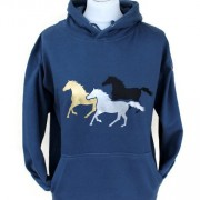 Capaillíní Equestrian Collection - Galloping Horses Hoodie-petrol