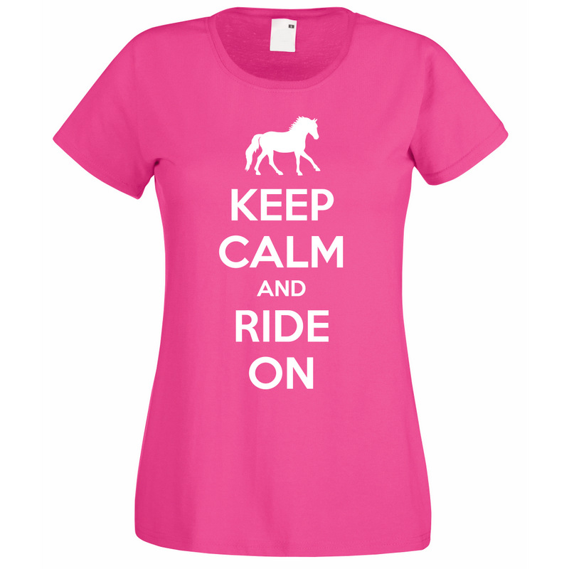 keep calm and ride on t shirt unique equestrian gifts. Black Bedroom Furniture Sets. Home Design Ideas