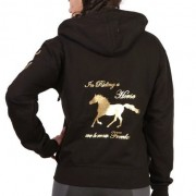 Horse Zip Hoodie - In Riding a Horse we borrow Freedom