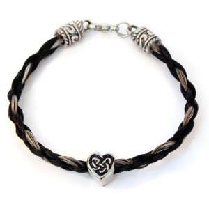 Horse Hair Bracelet with Celtic Heart Charm