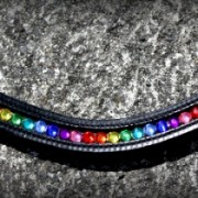 Bling Browband Rainbow