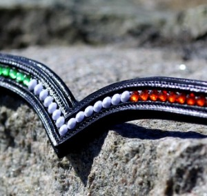 Bling Browband Irish Country Colours