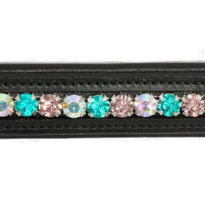 Bling Browband Elegant Greens