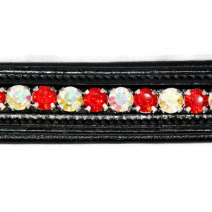 Bling Browband -Red / Crystal