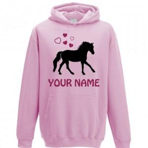 Personalised Girls Horse Hoodie