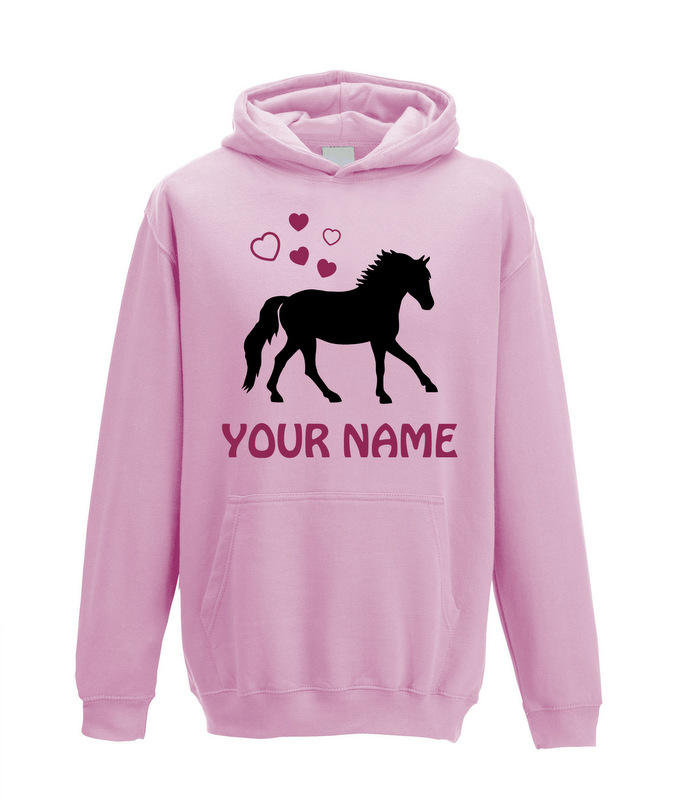 5521a4aa49a95 Personalised Horse Hoodie for Girls