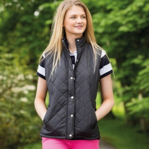 Ladies Diamond Quilt Gilet
