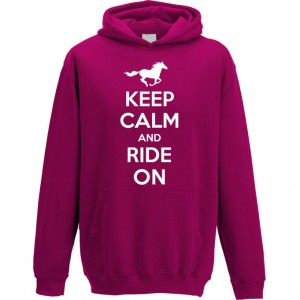 Keep Calm and Ride on Kids pink