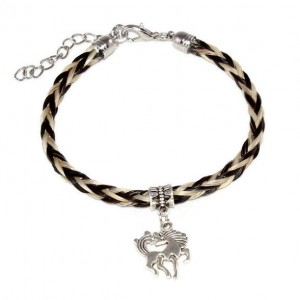 Horsehair Bracelet with Horse Charm
