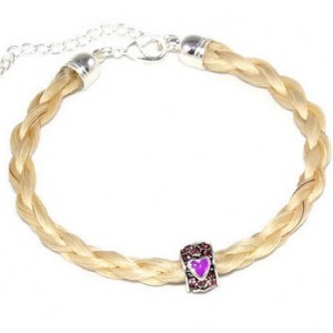 Horsehair Bracelet with Heart Charm