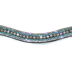 Mega Bling Browband Crystal Turquoise
